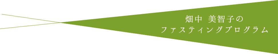 畑中美智子のファスティングプログラム
